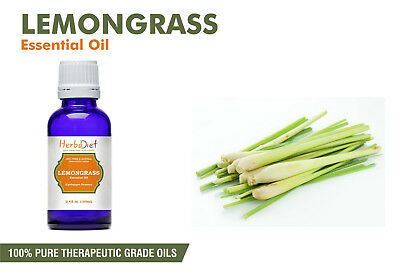 Lemongrass Essential Oil 100% Pure Natural PREMIUM Therapeutic Grade Oils