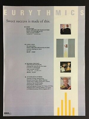 "The Eurythmics Original 11X14"" Print Promo Ad For Accomplished ""Sweet Success"""