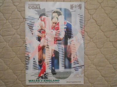 Wales V England Rugby League Match Programme 1992