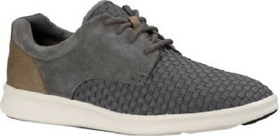 8c9ab351397 NIB UGG MEN'S Hepner Woven Lace Up Casual Shoes in Metal Size 9