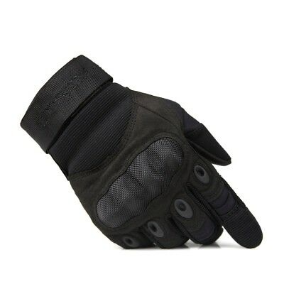 (Black, Large) - FREE SOLDIER Full Finger Outdoor Gloves for Cycling Hunting