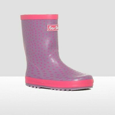 (J5) - Peter Storm Spotted Trim Junior Wellies. Shipping is Free