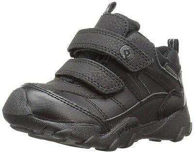 (7 UK Child, Black (Black)) - pediped Boys' Max Sneakers. Shipping Included