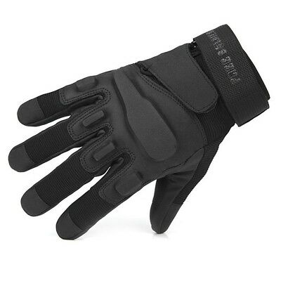 (Black, Medium) - FREE SOLDIER Full Finger Outdoor windproof waterproof Gloves