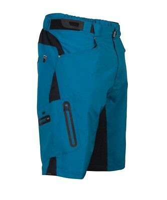(Large, Blue) - Zoic Junior Ether Bike Shorts. Free Delivery