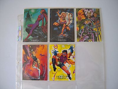 Marvel Masterpieces  92 Set  Lost Cards  Lm1 A Lm5 Tres Rares Trading Cards  92