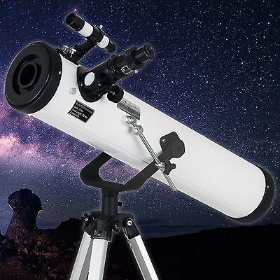 New 700x76mm Reflector Telescope with Tripod and Eyepieces dual purpose UK STOCK