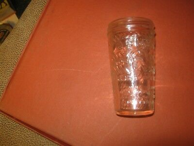 Small JUMBO PEANUT BUTTER JAR, 5oz. Not Perfect Condition (Round Base)