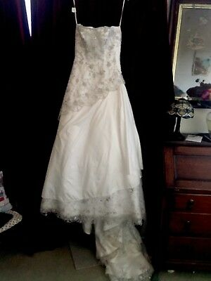 Beautiful Beaded Femme Couture Wedding Dress Size 10