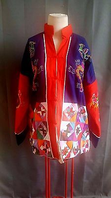 Vintage Chinese 1970's Embroidered Handmade Women's Jacket/Blouse