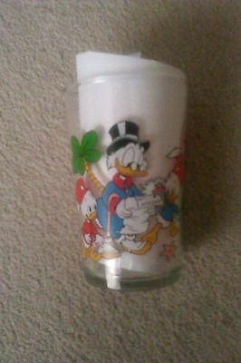 Uncle scrooge mc duck glass Disney Donald Duck tales