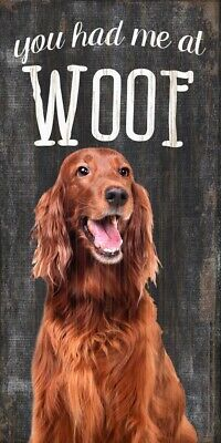 Irish Setter Sign – You Had me at WOOF 5×10