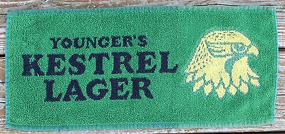 Vintage Pub/Bar Top Towel - Younger's Kestrel Lager
