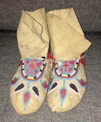 19th Century Northern Plains Beaded Moccasins