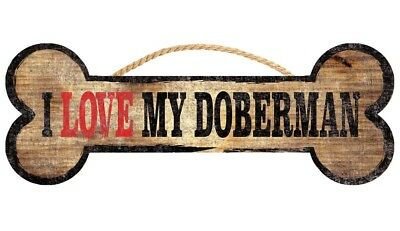 Doberman Pinscher Sign – I Love My Bone 3×10