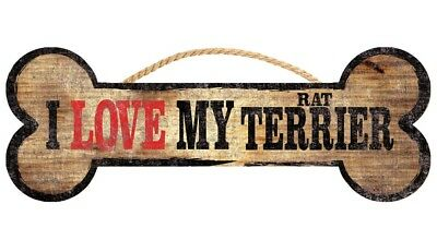 Rat Terrier Sign - I Love My Bone 3x10
