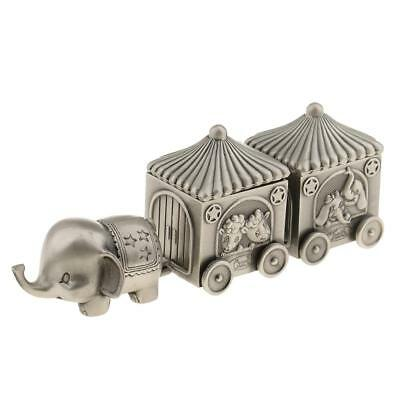 Alloy Elephant Baby Kids Tooth Save Box Milk Teeth Curl Storage Case Gift