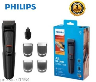 Philips MG3710/13 Multigroom Series 3000 6-in-1 Face Body Nasal Clipper Trimmer