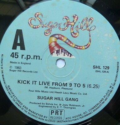 """Sugar Hill Gang - Kick It Live From 9 To 5 - 12"""" Vinyl"""