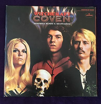 COVEN - Witchcraft Destroys Minds & Reaps Souls - VERY RARE 1969 ORIG TRI ALBUM