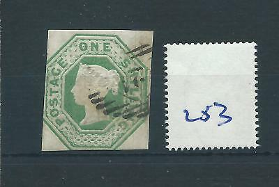 wbc. -  GB - QUEEN VICTORIA -  QV232 - 1/-d. - GREEN - EMBOSSED -  SG 54