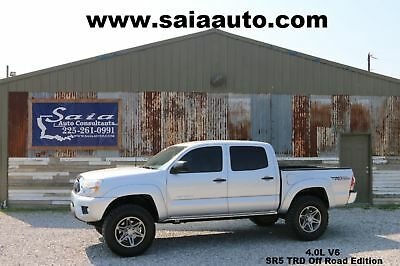 2012 Toyota Tacoma Pre Runner Crew Cab Pickup 4-Door 2012 Silver SERVICED DETAILED READY TO GEAUX!