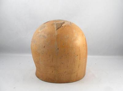 Vintage Wooden Hat Mold Block Millinery Form Size 22