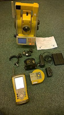 Topcon ONE MAN TOTAL STATION GPT 9005A RC-3R FC200 pole 360 Prism Charger