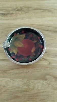 Antique Pomegranate design Moorcroft solid silver hallmarked rim ash tray
