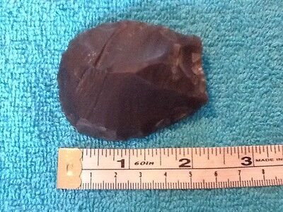 Black flint axe head 6 X 5 cm.