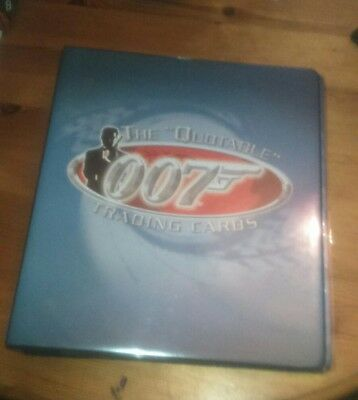 James Bond The Quotable 007 Binder lot with rare cards inc Autos and Promos