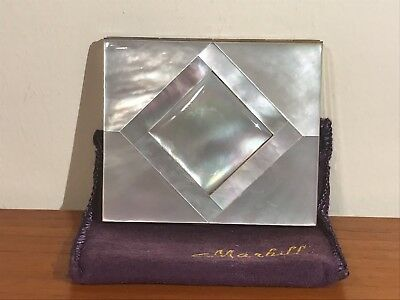 Vintage 'Marhill' Mother Of Pearl Powder Compact UNUSED. Rare