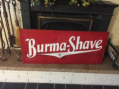 Antique Burma Shave Double sided Wood Sign