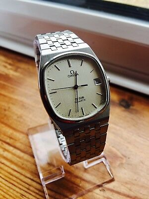OMEGA DE VILLE MENS WRIST WATCH VINTAGE S/S bracelet CAL 1332 papers