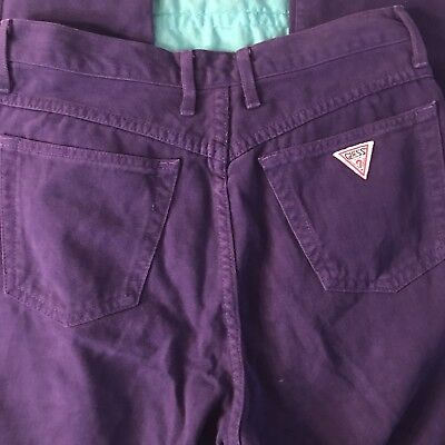 Guess Georges Marciano Vintage Purple High Waisted Mom Jeans Size 31 Womens