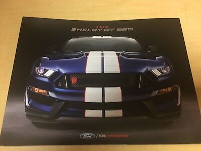 2018 Ford SHELBY GT 500 6-page Preview GUIDE Original Sales Brochure