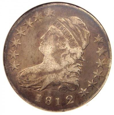 1812/1 Capped Bust Half Dollar 50C O-102a - Certified ANACS VF30 - Rare Coin!