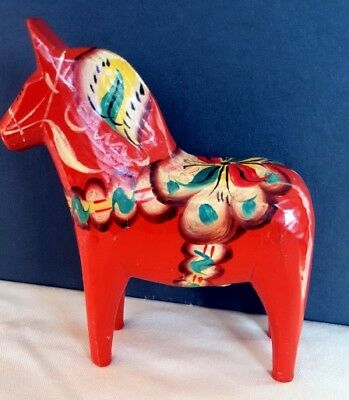 Wooden Dala Nils Olsson Horse Sweden hand painted