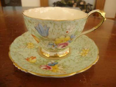Stunning Antique Paragon Fine Bone China Cup And Saucer. #1. C1930.