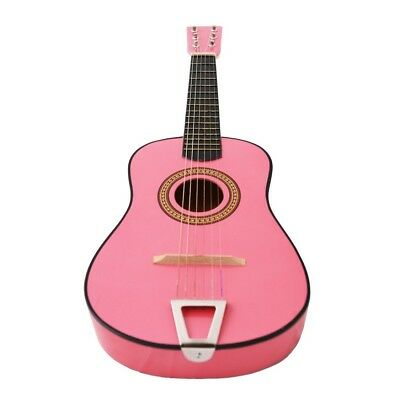 60cm Kids Children Mini Acoustic Toy Guitar Pink. Crescent Players. Best Price