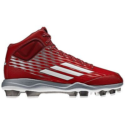 (10 D(M) US) - Adidas Power Alley 3 Tpu Mid Red/White ( S84717 ). Best Price