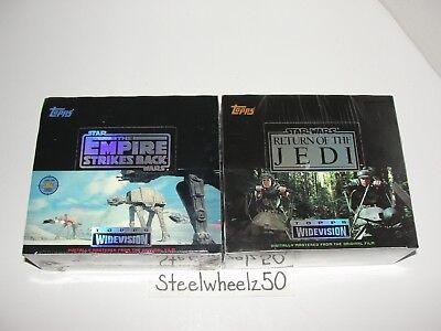 1995 Topps Widevision Star Wars Empire Strikes Back & Return Jedi Sealed Box Lot