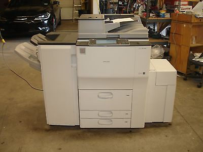 Ricoh Aficio Mp 6002 Copier,print-Scan-Fax-Finisher-Lct-Low Meter-Working 100%