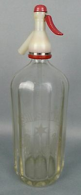 Vintage Shipstones Nottingham Water Seltzer Bottle Etched Glass