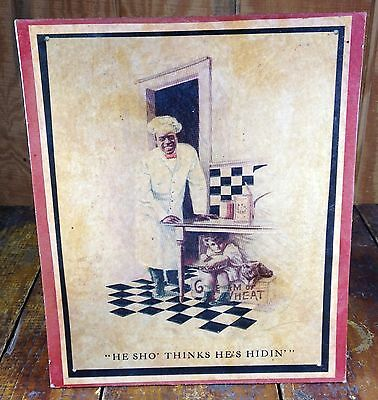 Black Americana Chef & Boy Cream of Wheat Advertising General Store Counter Sign