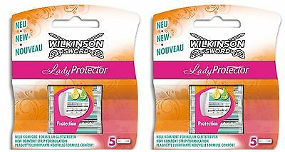 Wilkinson Sword Schick Lady Protector 10 Pack Razor Blades Replacement Cartridge