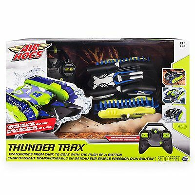 Air Hogs Thunder Trax Remote Control Vehicle 2.4 GHZ Transforms from Tank 2 Boat