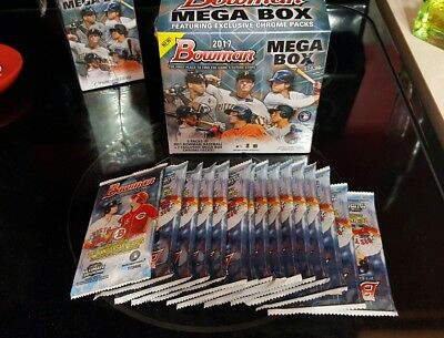 2017 Bowman Baseball Factory Sealed Retail (15) Pack Lot from Mega Box!! Judge??