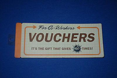 Knock Knock Stuff Co-Workers Book of Coupon Voucher~20 Office Vouchers