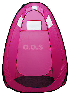 Pink Pop Up Spray Tan Tent, Unused, Built Up For Show, Carry Case